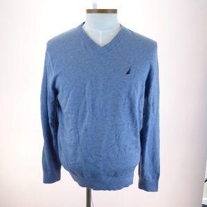 Nautica Men's V-Neck Pull Over Long Sleeve Sweater